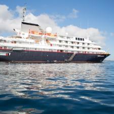 Silver Galapagos at sea