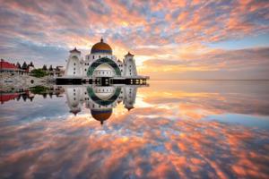Malacca Straits Mosque, Malaysia