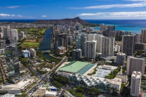 Aerial view of Honolulu, Hawaii