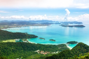 Aerial view of Langkawi, Malaysia