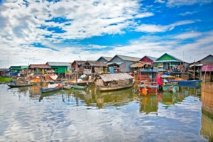 Floating village, Tonle Sap lake, Cambodia