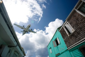 Plane over St Maarten