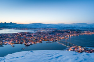 View over Tromso in winter