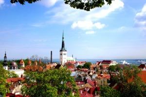 Rooftops in Tallinn, Estonia