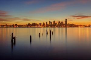 Sunrise over Puget Sound, Seattle