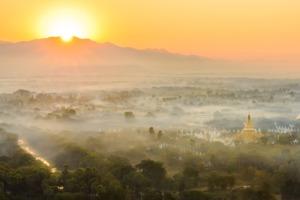 Sunrise over Mandalay, Myanmar