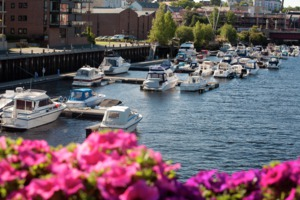 Boats in Trondheim, Norway