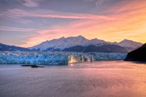 Alaska Hubbard Glacier sunrise