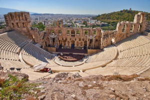 Ancient theatre at the Acropolis, Athens