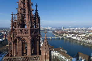 View from Basel cathedral, Switzerland