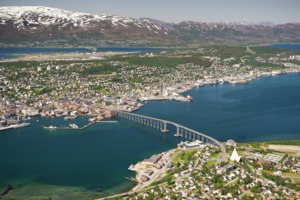 Aerial view of Tromso, Norway