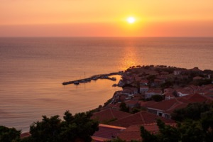 Sunset over Molyvos, Lesvos