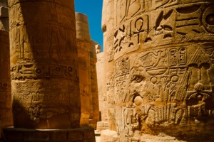 Hieroglyphics in Luxor, Egypt