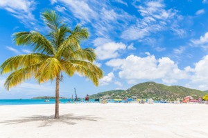 Beach near Philipsburg, St Maarten