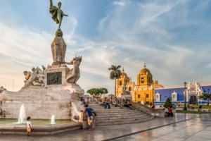 Main square in Trujillo, Peru