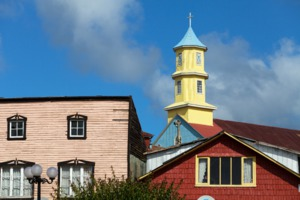 Wooden church in Castro, Chiloé Island
