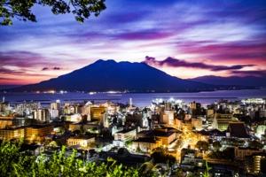Sunset over Kagoshima, Japan