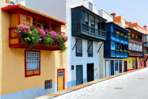 Balconies in Santa Cruz de la Palma, Spain