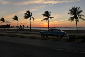 Sunset on the Malecon in Havana, Cuba