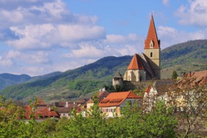Weissenkirchen church in the Wachau Valley, Austria