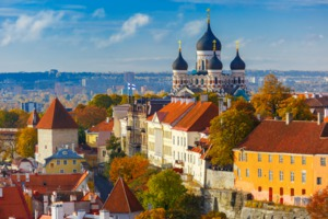 Toompea Hill in Tallinn, Estonia