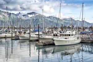 Seward harbour, Alaska