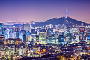Seoul skyline at night, South Korea