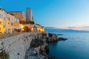 Medieval fortification in Antibes, France