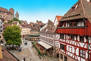 Old buildings in Nuremberg, Germany