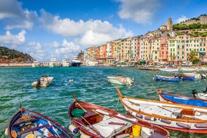Fishing boats in Portovenere, Italy