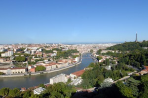 View over Lyon, France