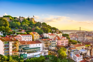 View of Sao Jorge Castle, Lisbon