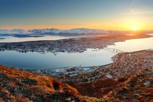 Sunset over Tromsø, Norway