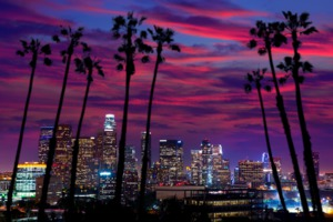 Los Angeles in the evening