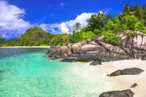 Boulders on the beach, Mahé