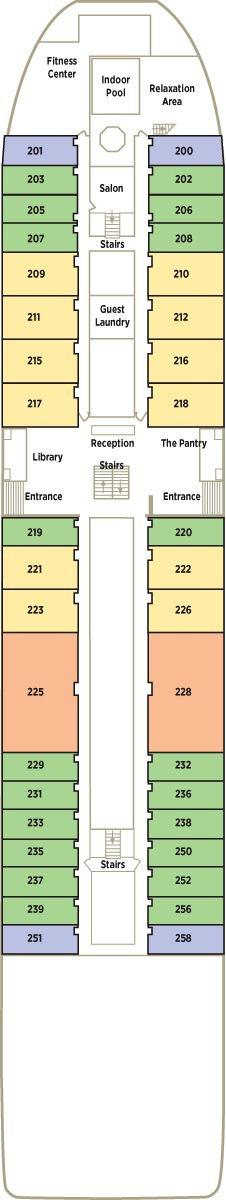 Crystal Mozart deck plans - Deck 2