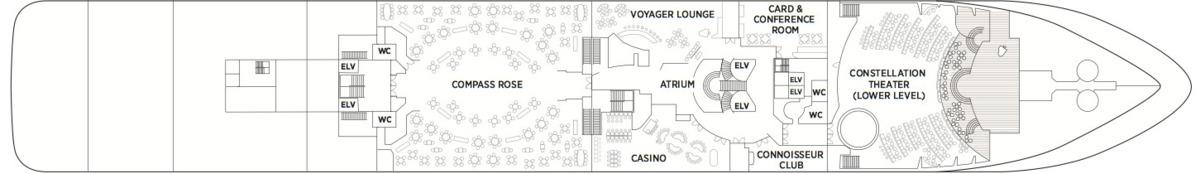 Regent Seven Seas Voyager deck plans - Deck 4