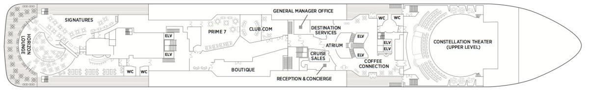 Regent Seven Seas Voyager deck plans - Deck 5