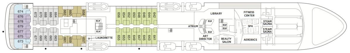 Regent Seven Seas Voyager deck plans - Deck 6