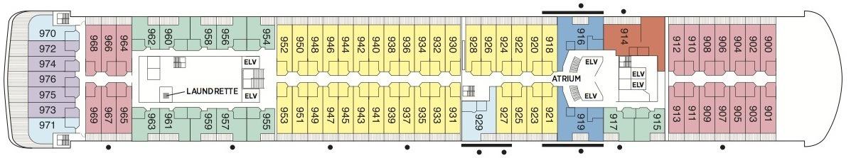 Regent Seven Seas Voyager deck plans - Deck 9
