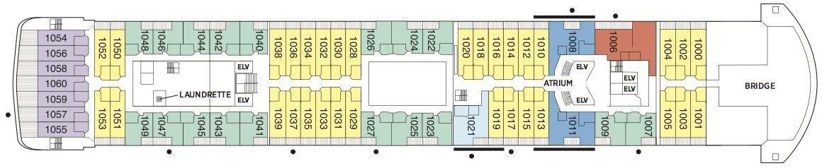 Regent Seven Seas Voyager deck plans - Deck 10