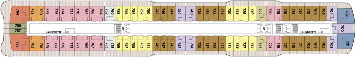 Regent Seven Seas Explorer deck plans - Deck 7
