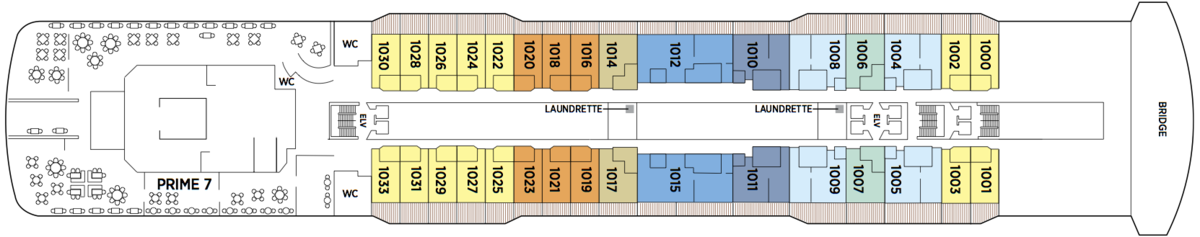 Regent Seven Seas Explorer deck plans - Deck 10