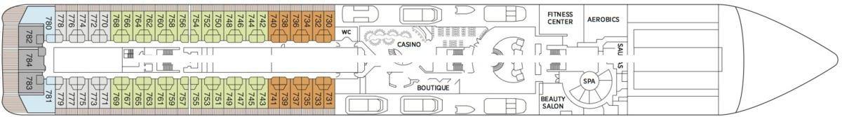 Regent Seven Seas Mariner deck plans - Deck 7