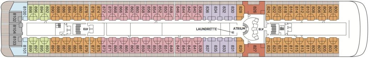 Regent Seven Seas Mariner deck plans - Deck 8