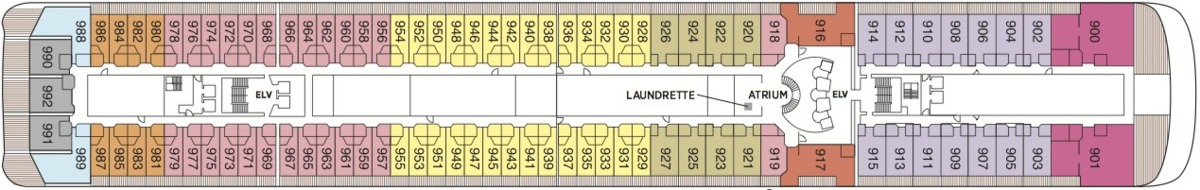 Regent Seven Seas Mariner deck plans - Deck 9