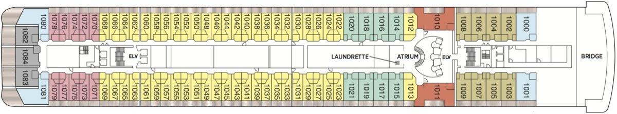 Regent Seven Seas Mariner deck plans - Deck 10