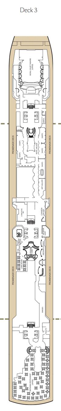 Queen Victoria deck plans - Deck 3