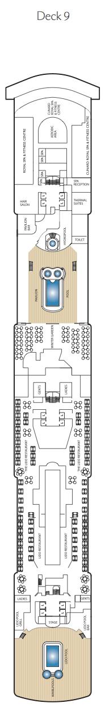 Queen Victoria deck plans - Deck 9