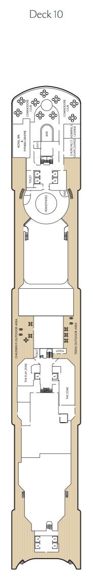 Queen Victoria deck plans - Deck 10